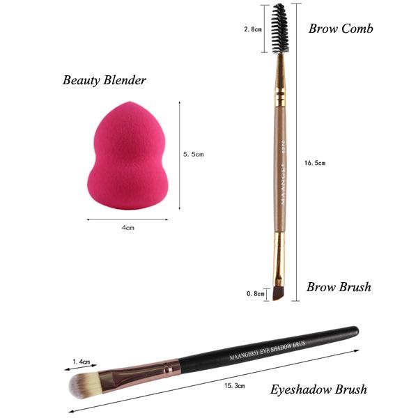 Makeup Sponges + Eyeshadow Brushes + Eyebrow Brushes